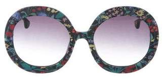 Alice + Olivia Round Gradient Sunglasses