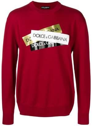 Dolce & Gabbana logo tape jumper