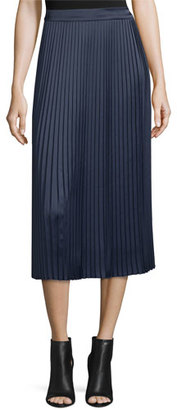 Elizabeth and James Lucy Pleated Tea-Length Skirt, Royal $365 thestylecure.com