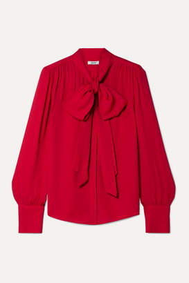 Jason Wu Pussy-bow Crepe Blouse - Red