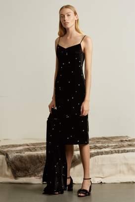 Genuine People Velvet Crystal Embellished Slip Dress