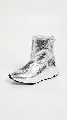 D.A.T.E Dafne Sherpa Laminated Sneakers