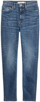 H&M Slim Ankle High Jeans - Blue