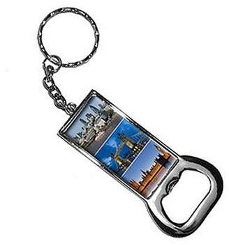 Generic City Of London Big Ben Bridge Keychain Key Chain Ring Bottle Bottlecap Opener