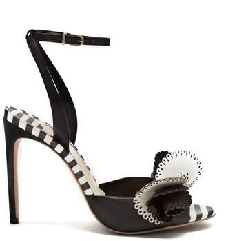 Sophia Webster Soleil striped leather sandals