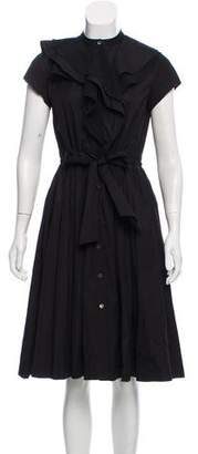 Lanvin Cap Sleeve Mini Dress