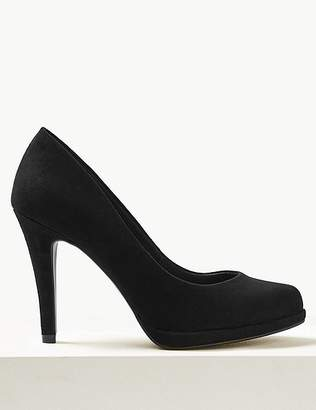 Marks and Spencer Wide Fit Stiletto Heel Platform Court Shoes