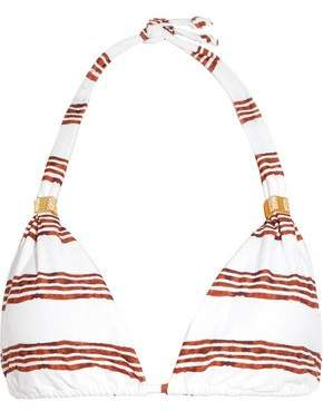 Vix Oasis Striped Triangle Bikini Top