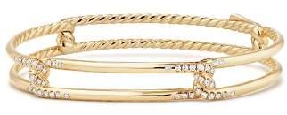 David Yurman Continuance Bracelet with Diamonds in 18K Gold