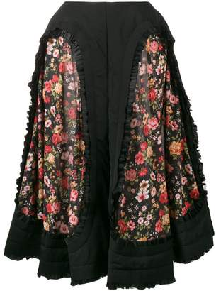 Comme des Garcons floral panelled midi skirt