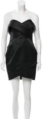 Marchesa Satin Cocktail Dress