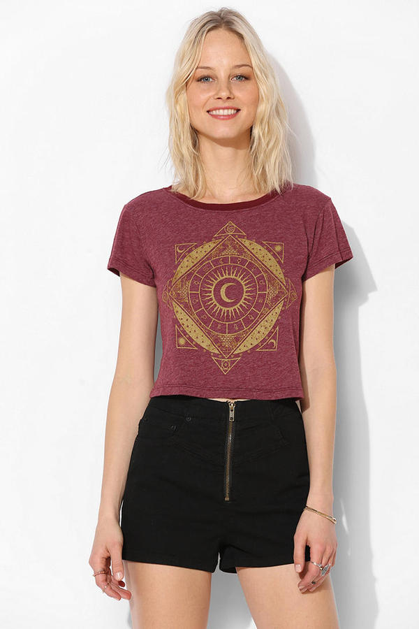 Truly Madly Deeply Mystical Sun Cropped Tee