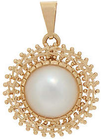 Imperial Gold Cultured Mabe Pearl Pendant,14K Gold