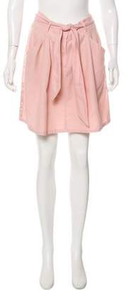Rebecca Taylor Sash Tie Mini Skirt