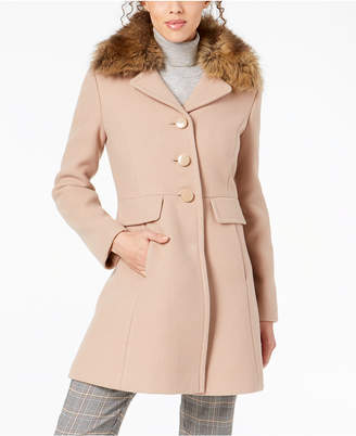 Kate Spade Faux-Fur-Collar Coat