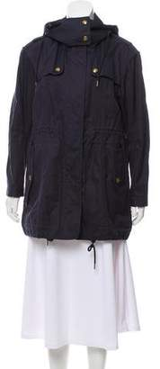 Burberry Hooded Lightweight Coat