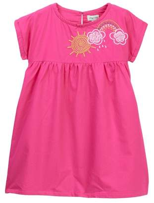 Lilly + Sid Rainbow Embroidered Dress (Toddler & Little Girls)