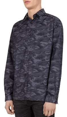 The Kooples Harley Camouflage Regular Fit Button-Down Shirt