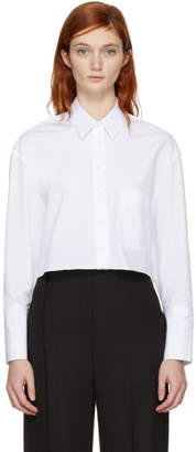 Neil Barrett White Cropped Shirt