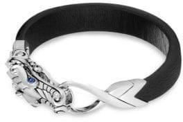 John Hardy Naga Leather Dragon Bracelet