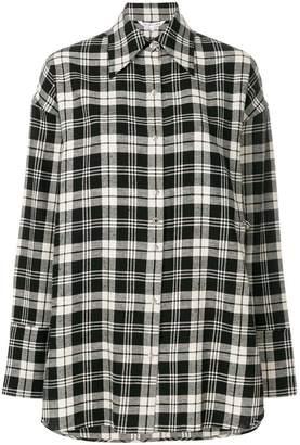Helmut Lang oversized plaid shirt