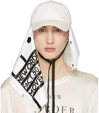 Raf Simons White New Order Power, Corruption and Lies Movement Baseball Cap