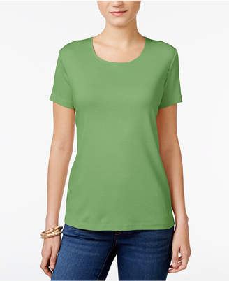 Karen Scott Scoop-Neck T-Shirt In Regular & Petite Sizes, Created for Macy's