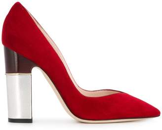 Pollini block heel pumps