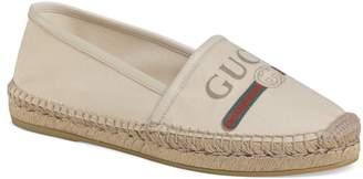 Gucci Logo Espadrille Flat