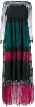 Twin-Set colour block lace detail dress