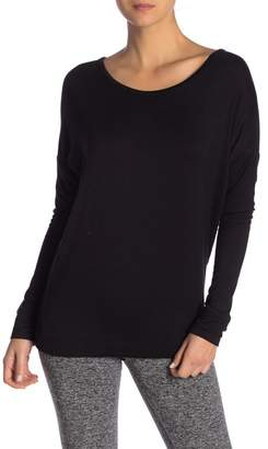 Andrew Marc Strappy Back Long Sleeve Tee