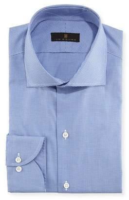 Ike Behar Houndstooth Cotton Dress Shirt