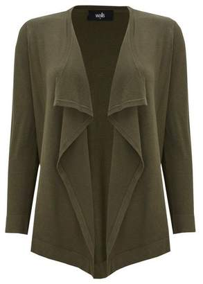 Wallis Khaki Waterfall Shrug