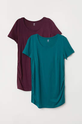 H&M MAMA 2-pack Tops - Red