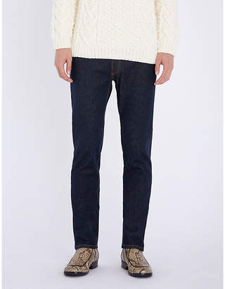 Brioni Slim-fit straight stretch-denim jeans