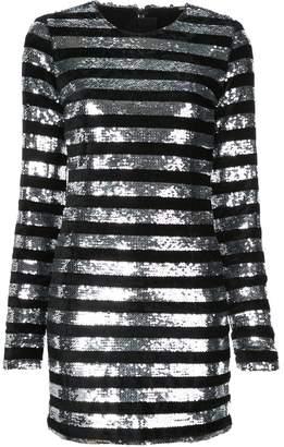RtA Striped Sequin Mini Dress