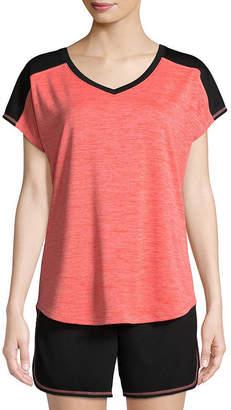 ST. JOHN'S BAY SJB ACTIVE Active Short Sleeve T-Shirt-Womens