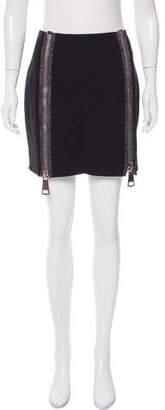 Christopher Kane Zipper-Accented Mini Skirt