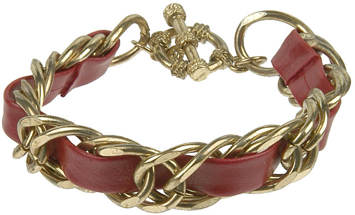 Interwoven Faux Leather Bracelet