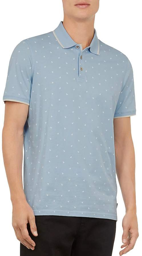 Ted Baker Dotie Printed Regular Fit Polo Shirt