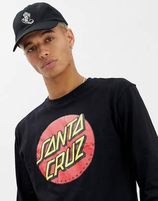 Santa Cruz Classic Dot Long Sleeve T-Shirt In Black