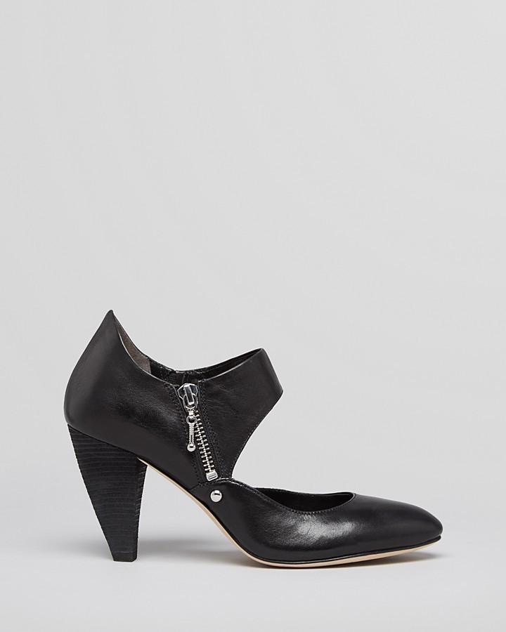Belle by Sigerson Morrison Mary Jane Sandals - Bobby Cut Out High Heel