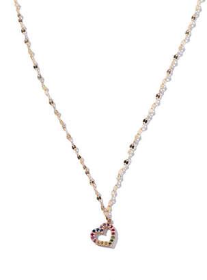 LANA GIRL BY LANA JEWELRY Girls' Rainbow Sapphire Heart Pendant Necklace
