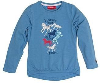 Salt&Pepper Salt and Pepper Girl's Horses My World Longsleeve T-Shirt