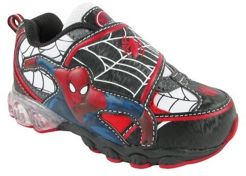 Spiderman Toddler Boy's Athletic Sneaker - Black