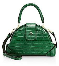 Atelier Manu Men's Demi Croco-Embossed Leather Bag