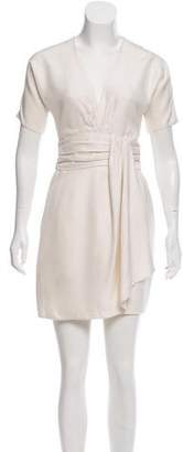 Giambattista Valli Ruched Silk Dress