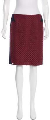 O'2nd Embroidered Knee-Length Skirt