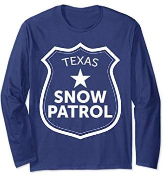 Texas Snow Patrol Long Sleeve T-Shirt Funny Ski Slopes Gift