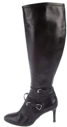 Ralph Lauren Purple Label Leather Knee-High Boots